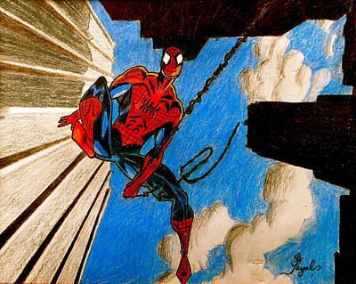 Spiderman Art Print by Artistic Indian Nurse