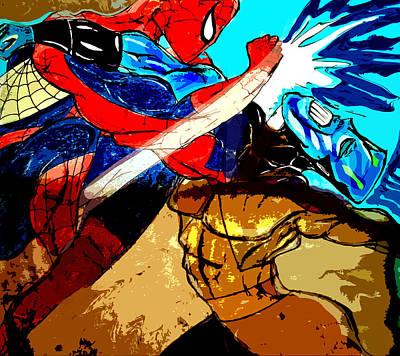 Spiderman Drawing - Spiderman Vs Jar Head  by Jazzboy
