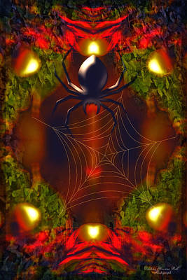 Digital Art - Spiders Lair by Darlene Bell