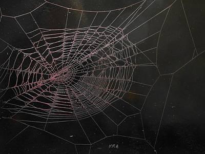 Silks Mixed Media - Spiders Web 133 by Kenneth Albury