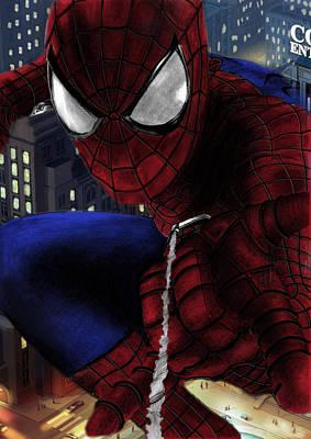 Spider Man Drawing - Spidey by Yf Jarosova