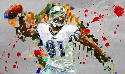 Detroit Lions Painting - Spike It by John Farr