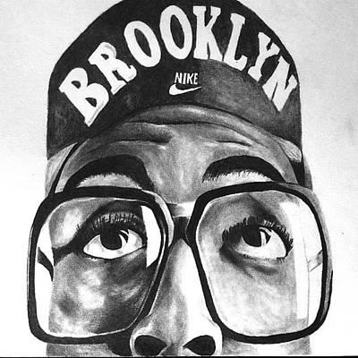 Air Jordan Drawing - Spike Lee Aka Mars Blacmon by David Crane