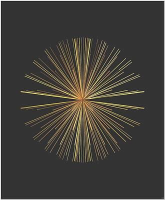 Art Print featuring the digital art Spikes... by Tim Fillingim