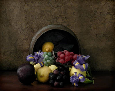 Spilled Fruit Art Print