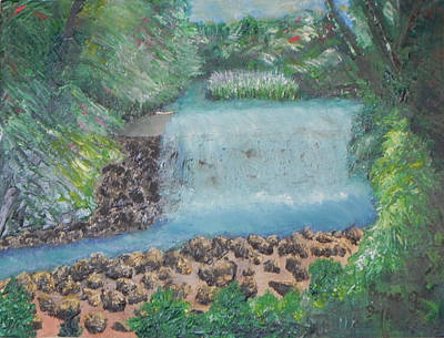Painting - Spillway On The Brandywine by Ernie Goldberg