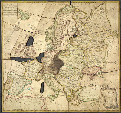Cartography Photograph - Spilsbury Jigsaw by British Library