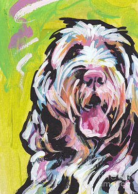 Colorful Dog Painting - Spin One Baby by Lea S