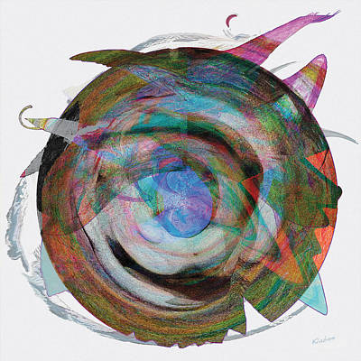 Art Print featuring the digital art Spin One by David Klaboe