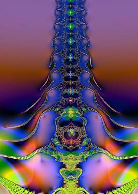 Human Body Digital Art - Spine by Dragica  Micki Fortuna