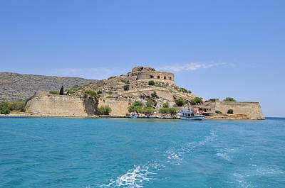 Turquois Water Photograph - Spinalonga Island Crete Greece by Matthias Hauser