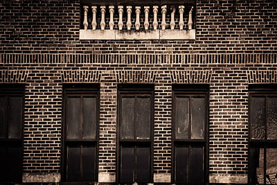Photograph - Spindles And Bricks by Melinda Ledsome