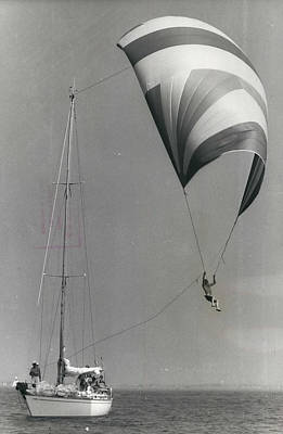 Flying Photograph - Spinnaker Flying At Cowes by Retro Images Archive