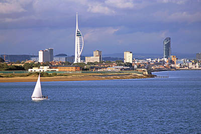 Photograph - Spinnaker Tower And Gunwharf Quays by Tony Murtagh