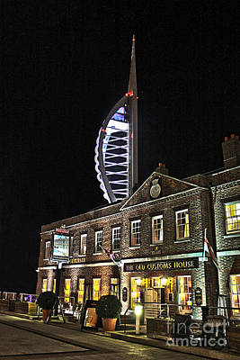 Photograph - Spinnaker Tower And Old Customs House Portsmouth by Terri Waters