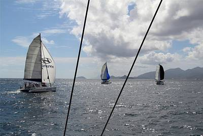 Photograph - Spinnakers In The Seychelles by Debbie Cundy