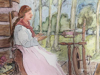 Painting - Spinner 1 by Gretchen Allen
