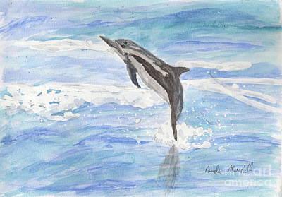 Spinner Dolphin Art Print by Pamela  Meredith