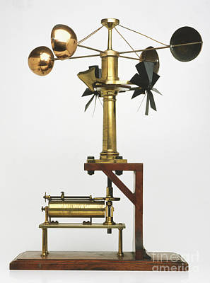 Anemometer Photograph - Spinning-cup Anemometer by Karl Shone / Dorling Kindersley