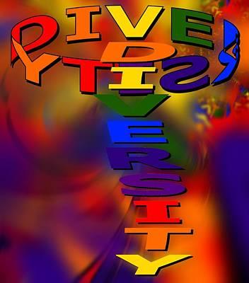 Spinning Diversity Art Print by Pharris Art