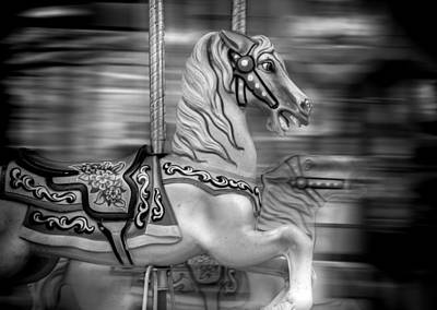 Photograph - Spinning Horses by Ricky Barnard