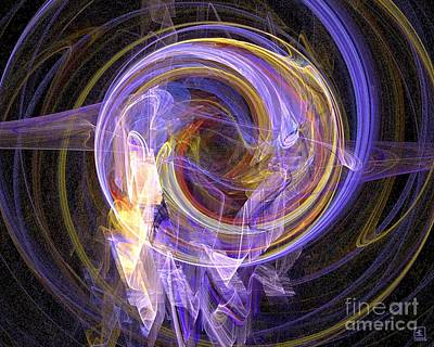 Artport Digital Art - Spinning by Jeanne Liander