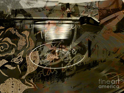 Music Digital Art - Spinning Records by Robert Ball