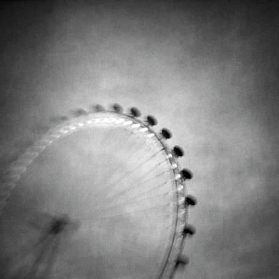London Eye Photograph - Spinning Round by Vangelis Bagiatis