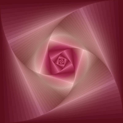 Spinning Squares Rose Pink Art Print by Ym Chin