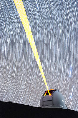 Photograph - Spinning Stars Above Keck Observatory by Jason Chu