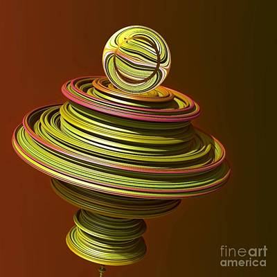 Digital Art - Spinning Top . Fractal by Renee Trenholm