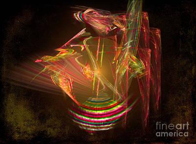 Digital Art - Spinning Top by Alexa Szlavics