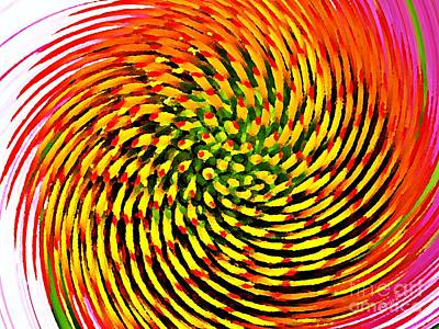 Manipulation Photograph - Spinning Watercolor  by Chris Berry