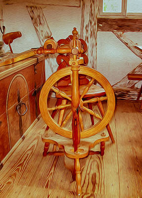 Spinning Wheel Art Print