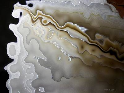 Mother Of Pearl Painting - Spinoff Book Ruffles Moire by Susan Holland