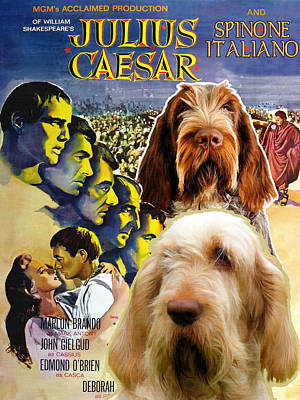 Painting - Spinone Italiano - Italian Spinone Art Canvas Print - Julius Caesar Movie Poster by Sandra Sij