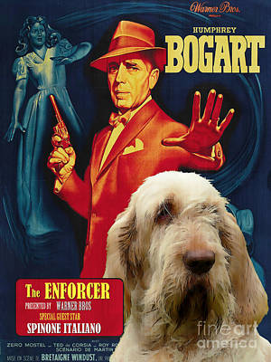 Painting - Spinone Italiano - Italian Spinone Art Canvas Print - The Enforcer Movie Poster by Sandra Sij