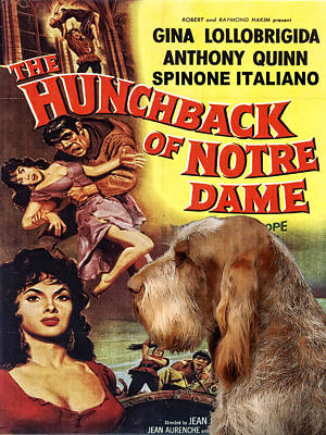 Painting - Spinone Italiano - Italian Spinone Art Canvas Print - The Hunchback Movie Poster by Sandra Sij