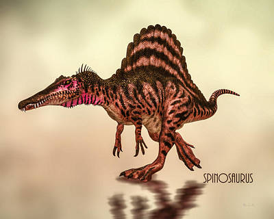 Lizards Digital Art - Spinosaurus Dinosaur by Bob Orsillo