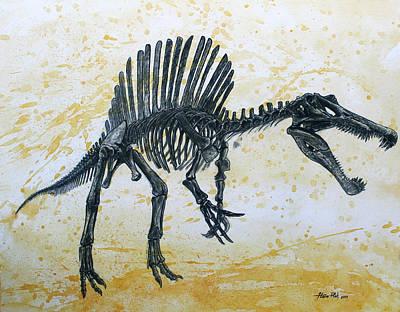 Spinosaurus Skeleton Original by Harm  Plat