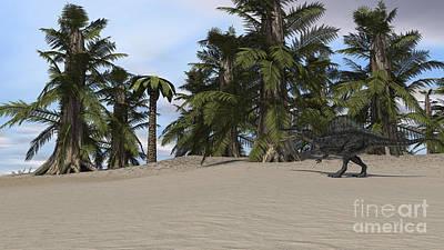 Digital Art - Spinosaurus Walking In A Desert by Kostyantyn Ivanyshen