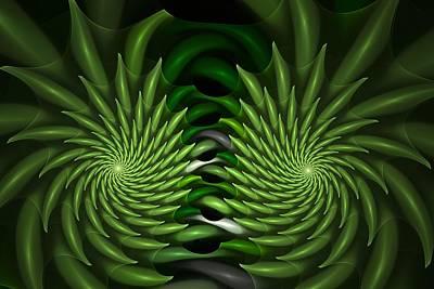 Spiny Digital Art - Spiny Bivortexia by Doug Morgan
