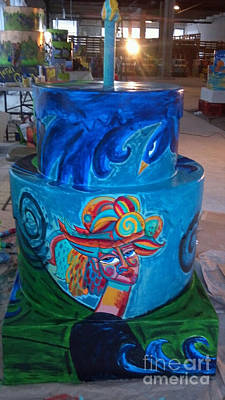 Painting - Spiral Bird Lady Cake by Genevieve Esson