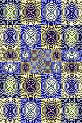Abstract Digital Digital Art - Spiral Design 3 by Sarah Loft