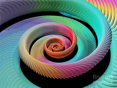 Photograph - Spiral Fractal by Spl