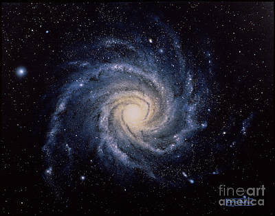 Ic Art Photograph - Spiral Galaxy by C Butler and SPL