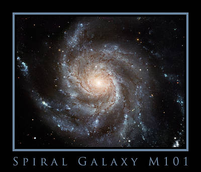 Spiral Galaxy M101 Print by Adam Mateo Fierro