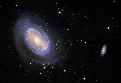 Stellar Photograph - Spiral Galaxy Ngc 4725 by Robert Gendler