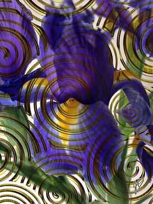 Spiral Iris Art Print