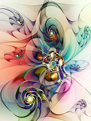 Apophysis Digital Art - Spiral Mania 3 by Klara Acel